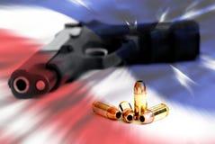 Direito americano de carregar os braços fotografia de stock royalty free