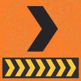 Direito da volta do sinal. Imagens de Stock