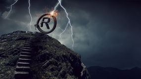Direitos da posse e do autor Meios mistos fotografia de stock royalty free