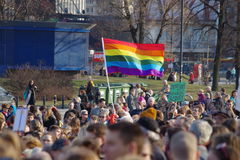 Direitos do ` s das mulheres no Polônia Foto de Stock Royalty Free