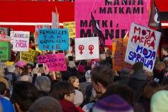 Direitos do ` s das mulheres no Polônia Fotos de Stock