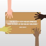 Direitos humanos dia, cartaz, citações, molde Imagem de Stock Royalty Free