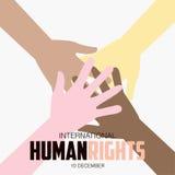 Direitos humanos dia, cartaz, citações, molde Fotos de Stock Royalty Free