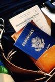 Direitos reservados D. Ch'en, documento de viagem de Dana Poin34489 Imagem de Stock Royalty Free