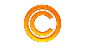 direitos reservados do sinal no fundo branco 3d isolados rendem ilustração royalty free