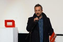 Direktör Olivier Peyon på Internationalesen Filmfestival Mannheim-Heidelberg 2017 Arkivbild