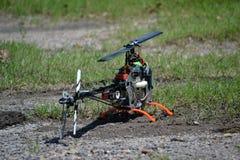 Direktübertragung Contol Heicopter T-Rex 500 Stockfoto