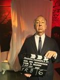 Direktör för WaxworkHollywood film, Alfred Hitchcock Royaltyfri Fotografi