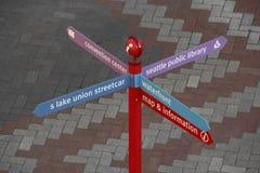 Diretório de rua colorido Fotografia de Stock Royalty Free