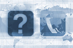 Diretório de telefone global Imagem de Stock Royalty Free