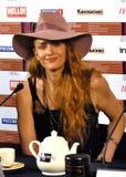 Diretor Claire McCarthy do cinema, EUA, no 40th festival de cinema do International de Moscou Foto de Stock