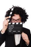Diretor de filme engraçado imagem de stock