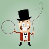 Diretor do circo engraçado dos desenhos animados Foto de Stock Royalty Free