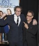Diretor Kirk Jones e ator Louis Mandylor fotografia de stock royalty free