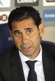 Diretor ostentando Manolo Hierro do Real Madrid Foto de Stock Royalty Free