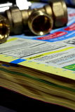 Diretório B do telefone de Yellow Pages Imagens de Stock