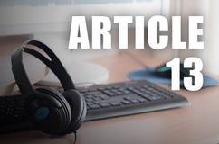 A diretriz orientadora europeia dos direitos reservados que inclui o artigo 13 ? aprovada pelo Parlamento Europeu fotografia de stock royalty free