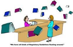 Diretrizes reguladoras Imagem de Stock