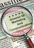 Direttore di marketing e comunicazioni ora che assumono 3d Fotografia Stock
