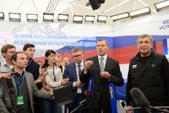 Direttore generale delle griglie russe Oleg Budargin di JSC Fotografie Stock Libere da Diritti