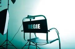 Direttore Lighting della sedia immagini stock libere da diritti