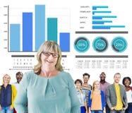 Direzione casuale Team Concept di strategia della gente di diversità Immagine Stock Libera da Diritti