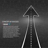 Direzione del modo Struttura della strada asfaltata Il concetto o Fotografie Stock Libere da Diritti