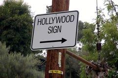 Direzione del segno di Hollywood Immagine Stock Libera da Diritti