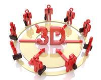 Direzione dell'affare a 3d Fotografia Stock