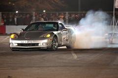 Direzione dell'automobile del Corvette fotografia stock
