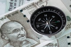 Direzione dell'India finanziaria e dell'economia, nuovo mercato emergente ciao Immagine Stock Libera da Diritti