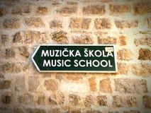 Direzione della scuola di musica immagini stock libere da diritti