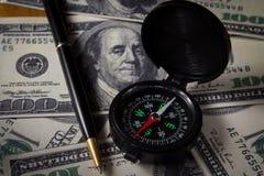 Direzione di affari per soldi Immagini Stock Libere da Diritti