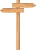 Direzione di legno della freccia illustrazione vettoriale
