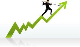 Direzione di successo di affari Immagine Stock