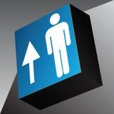 Direzione di viaggio del cubo di informazioni Immagini Stock Libere da Diritti
