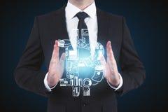 Direzione e concetto di e-business Immagine Stock Libera da Diritti