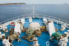 Direzione fuori al mare Fotografie Stock