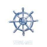Direzione-ruota dell'acquerello Fotografie Stock Libere da Diritti