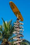 Direzioni della città di Haleiwa Fotografie Stock Libere da Diritti