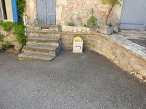 Direzioni nel sud della Francia Fotografie Stock Libere da Diritti