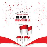 Dirgahayu Kemerdekaan Republik Indonesia Poster Vector Template Design Illustration royalty free illustration