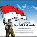 Dirgahayu-republik Indonesien stockfotografie