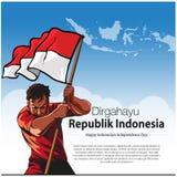 Dirgahayu-republik Indonesien stockfoto