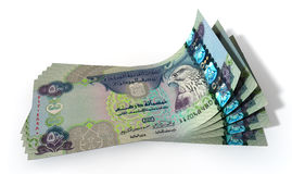 Dirham Bank Notes Spread Stock Image