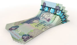 Dirham Bank Notes Spread Stock Image