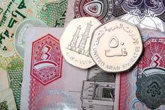 Dirham di valuta dei Uae Fotografie Stock