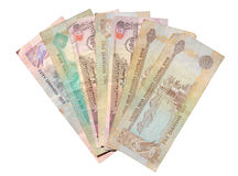 Dirhams isolated over white. Background. Currency from the United Arab Emirates