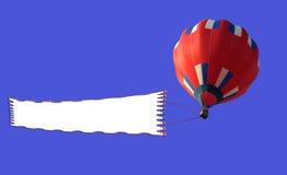 Dirigível e bandeira em branco 2. Ilustração Royalty Free