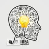 Diriga con una lampadina dall'incavo Immagini Stock Libere da Diritti